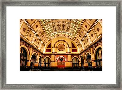 Union Station Balcony Framed Print by Kristin Elmquist