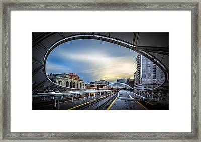 Union Station Denver - Slow Sunset Framed Print by Jan Abadschieff
