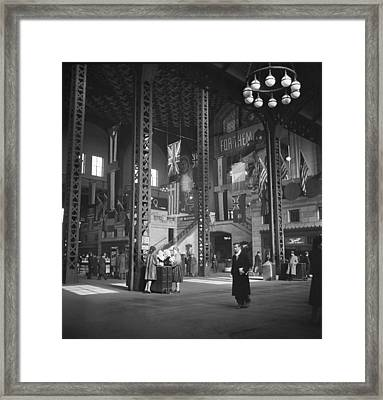 Union Station Train Concourse Framed Print by Jack Delano