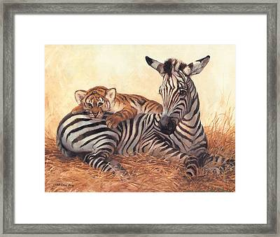 Unique Friendship Framed Print by Laurie Hein