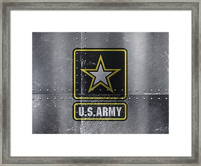 United States Army Logo On Steel Framed Print by Design Turnpike