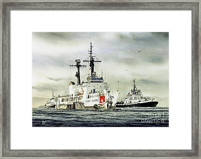 United States Coast Guard Boutwell Framed Print by James Williamson