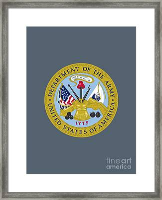 United States Department Of The Army Framed Print by Pg Reproductions