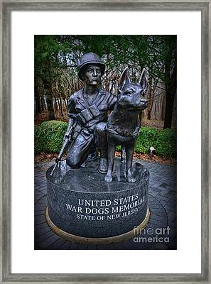 United States War Dog Memorial Framed Print by Paul Ward
