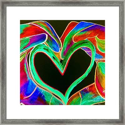 Universal Sign For Love Framed Print by Eloise Schneider
