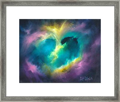 Universe Of The Heart Framed Print by Sally Seago