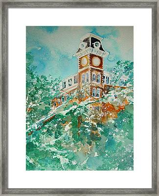 Ice On Old Main Framed Print by Robin Miller-Bookhout