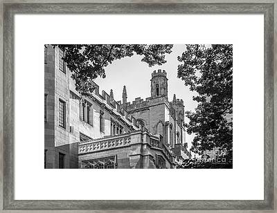 University Of Chicago Collegiate Architecture Framed Print by University Icons