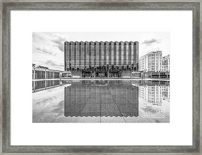 University Of Chicago D' Angelo Law Library Framed Print by University Icons