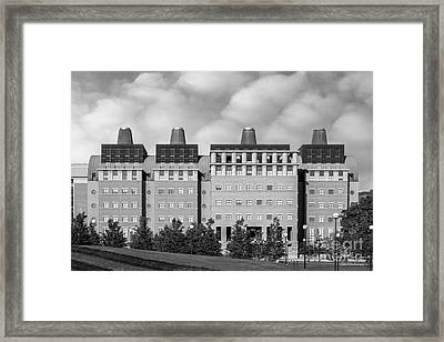 University Of Cincinnati Engineering Research Center Framed Print by University Icons