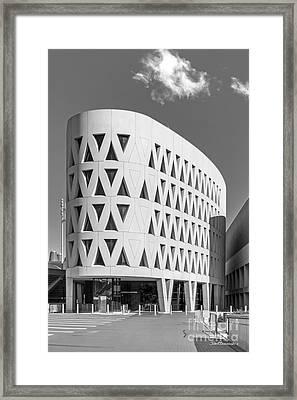 University Of Cincinnati Lindner Center Framed Print by University Icons