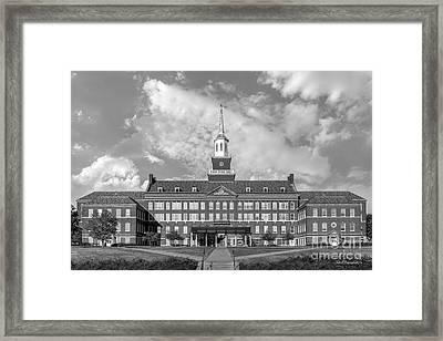 University Of Cincinnati Mc Micken Hall Framed Print by University Icons