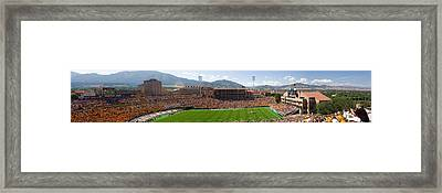 University Of Colorado Boulder Folsom Field Game Panorama Framed Print by James BO  Insogna