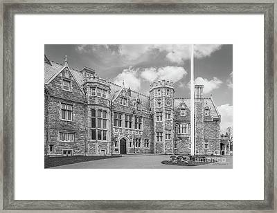 University Of Connecticut Avery Point Branford House Framed Print by University Icons
