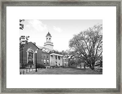 University Of Connecticut Wilbur Cross Building Framed Print by University Icons