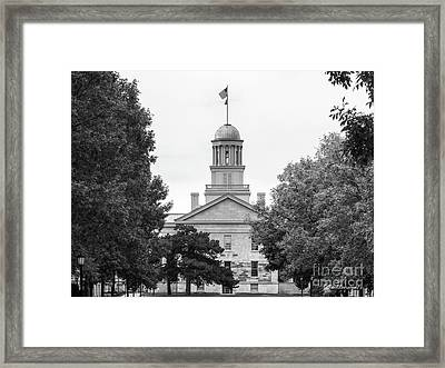 University Of Iowa Old Capital Framed Print by University Icons