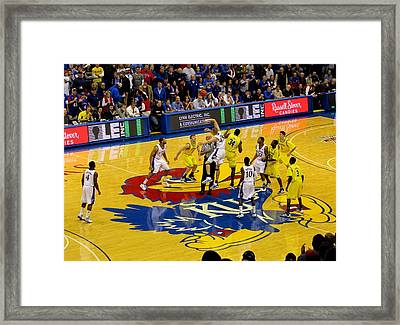 University Of Kansas Cole Aldrich Framed Print by Keith Stokes