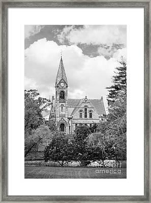 University Of Massachusetts Amherst Old Chapel Framed Print by University Icons