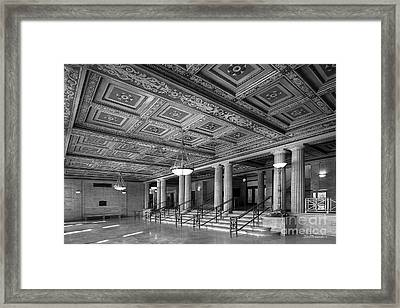 University Of Michigan Angell Hall Framed Print by University Icons