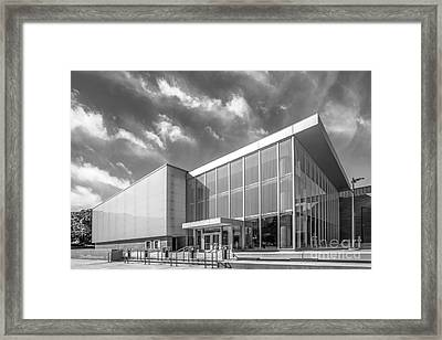 University Of Michigan Arthur Miller Theater Framed Print by University Icons