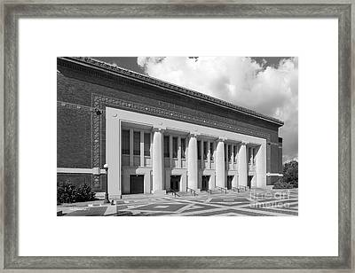 University Of Michigan Hill Auditorium Framed Print by University Icons