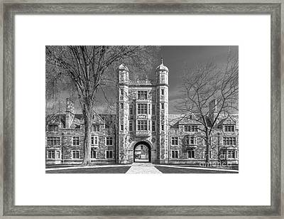University Of Michigan Law Quad Framed Print by University Icons