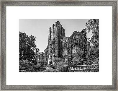University Of Michigan Michigan Union Framed Print by University Icons