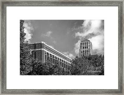 University Of Michigan Natural Sciences Building With Burton Tower Framed Print by University Icons