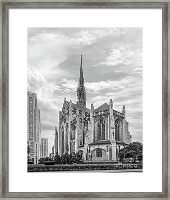 University Of Pittsburgh Heinz Memorial Chapel Framed Print by University Icons