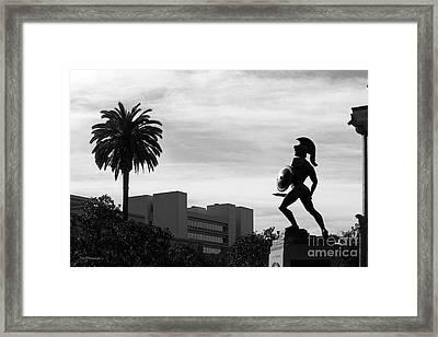 University Of Southern California Tommy Trojan Framed Print by University Icons