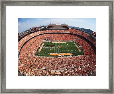 University Of Tennessee Neyland Stadium Framed Print by University of Tennessee Athletics