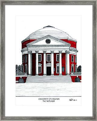 University Of Virginia Framed Print by Frederic Kohli
