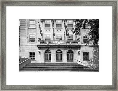 University Of Wisconsin Madison Memorial Union Framed Print by University Icons