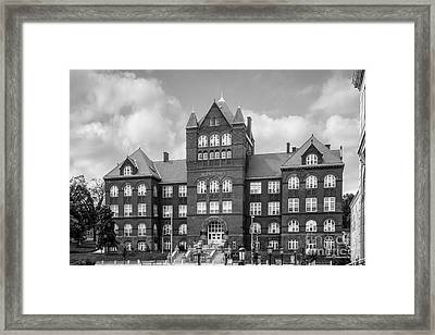 University Of Wisconsin Madison Science Hall Framed Print by University Icons