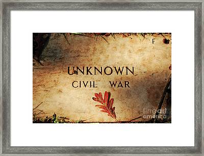 Unknown Civil War Framed Print by Kathleen K Parker