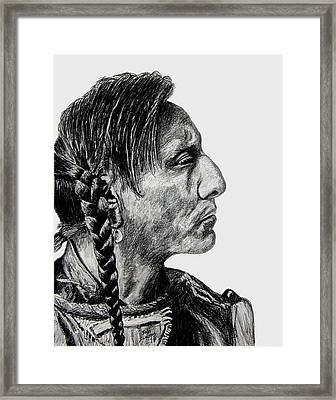 Unknown Indian II Framed Print by Stan Hamilton