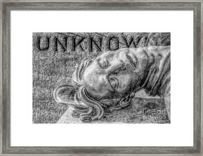 Unknown Soldier Gettysburg Framed Print by Randy Steele