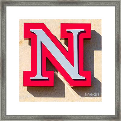 UNL Framed Print by Jerry Fornarotto