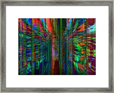 Unleashing Abstract Framed Print by Fania Simon