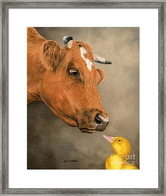 Friends Come In All Sizes Framed Print by Sarah Batalka