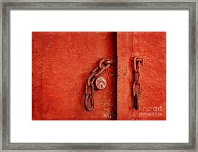 Unlocked Framed Print by Ana V Ramirez