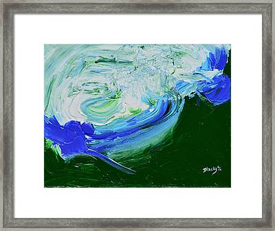 Unrestful Sea Framed Print by Donna Blackhall