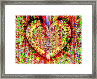 Unsettled Heart Framed Print by Fania Simon