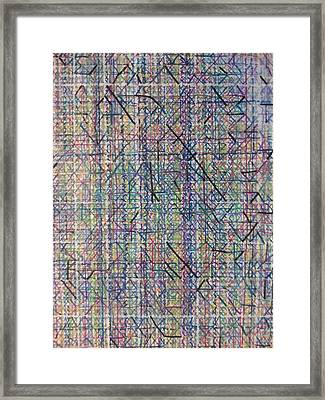Untitled Abstraction 2 Framed Print by William Douglas