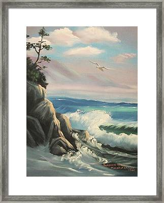 Untitled Seascape Framed Print by Suzanne  Marie Leclair