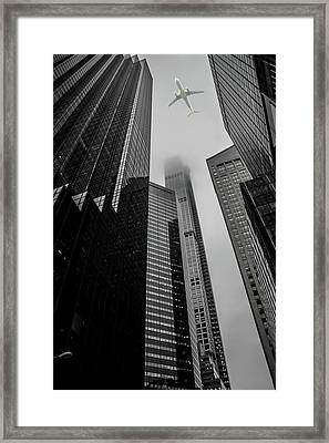 Up Above Framed Print by Martin Newman