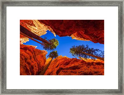 Up From Wall Street Framed Print by Chad Dutson