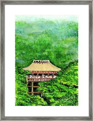 Up High Temple Framed Print by Yoshiko Mishina