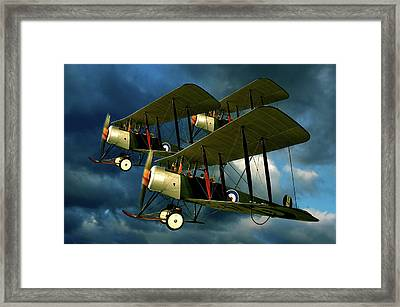Up In The Air Framed Print by Steven Agius