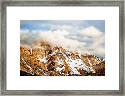 Up In The Clouds Framed Print by Aron Kearney